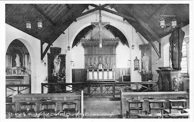 The Interior of St Mary's in 1911