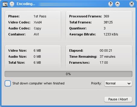 Avidemux Encoding