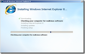 IE8 failed Installation screen