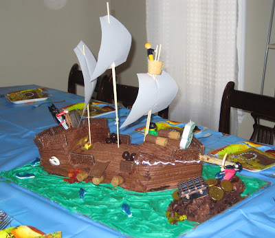 BigE Pirate Birthday Party Cake view 2