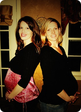 Amber and Sara Pregnant retro