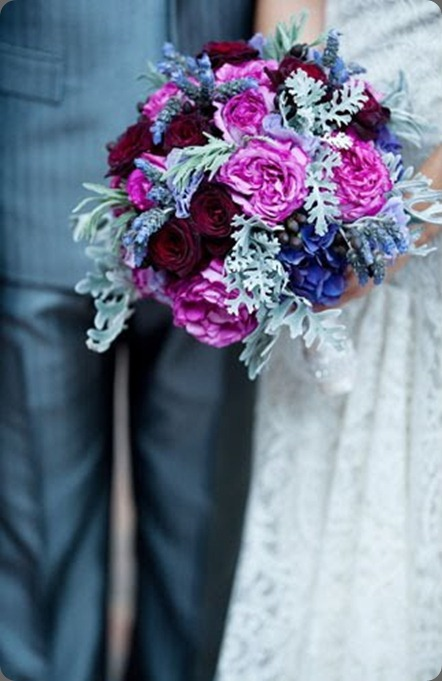 Green Wedding Shoes Purple Flower Bouquet by Enchanted Florist and Bella Weddings