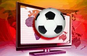 copa 2010 numa tela de plasma vermelha