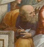 destaque de Anaximandro :A Escola de Atenas de Rafael, 1511