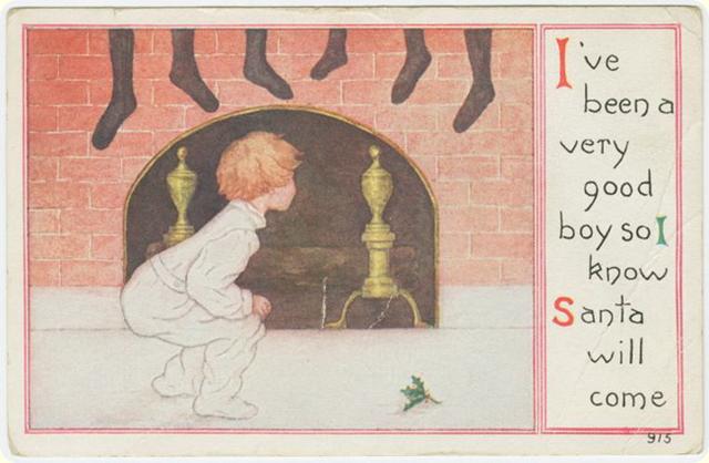 Винтажные рождественские открытки
