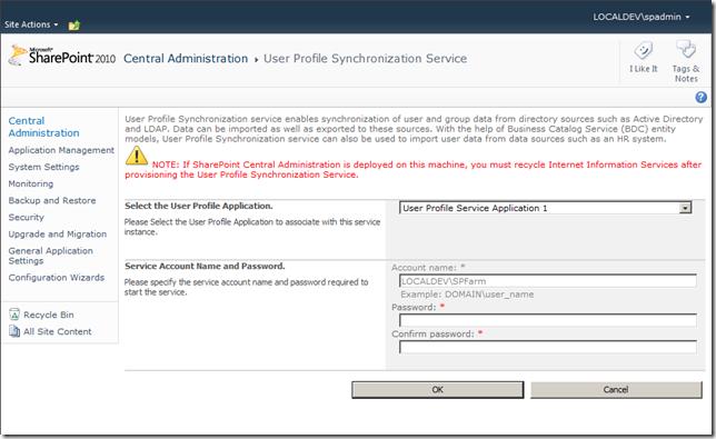 User Profile Synchronization Service