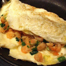 Low Fat Bay Shrimp and Swiss Omelet