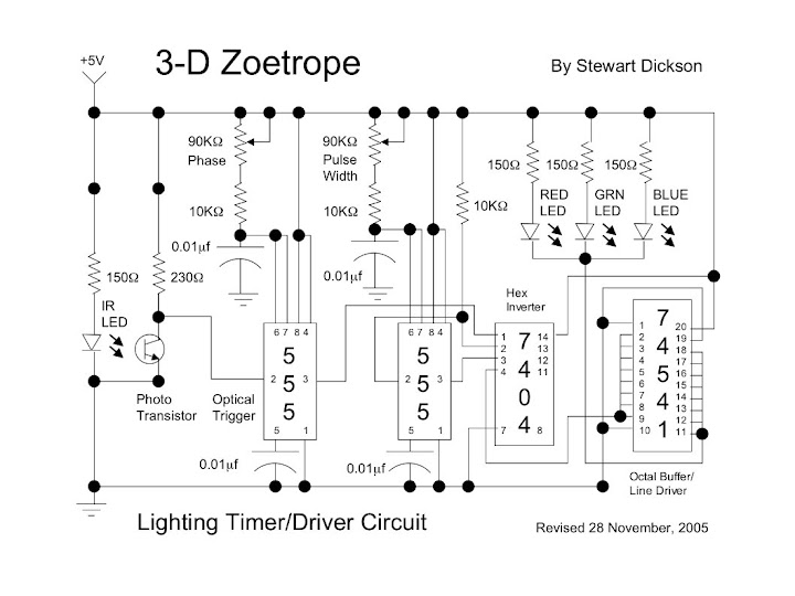 Schematic -- Zoetrope Lighting Circuit