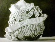 Diario arrugado dibujo