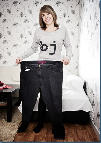 La Bogg, 19 år, har lyckats gå ned 42 kilo.