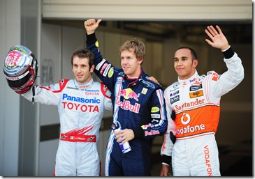Vettel, Trulli and Hamilton Japon qualy