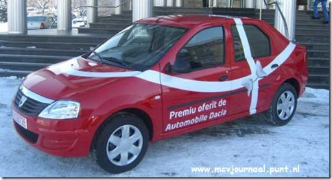 Dacia Sedan de Hoofdprijs