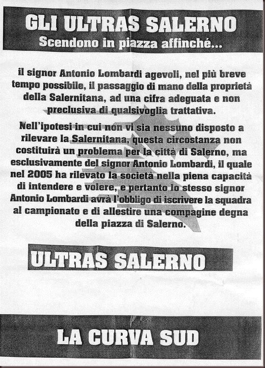 ultras salerno