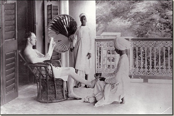 Desi Slaves Serving a Firangi Master