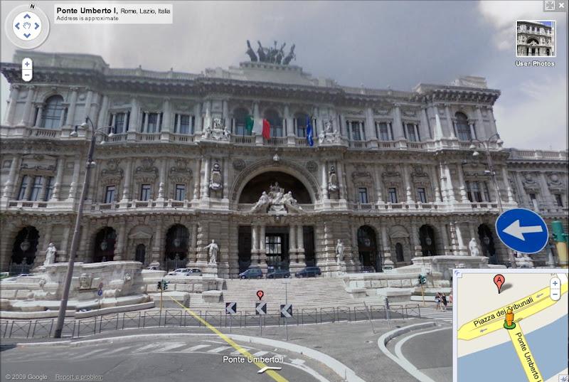 Google Maps view of Palazzo di Giustizia
