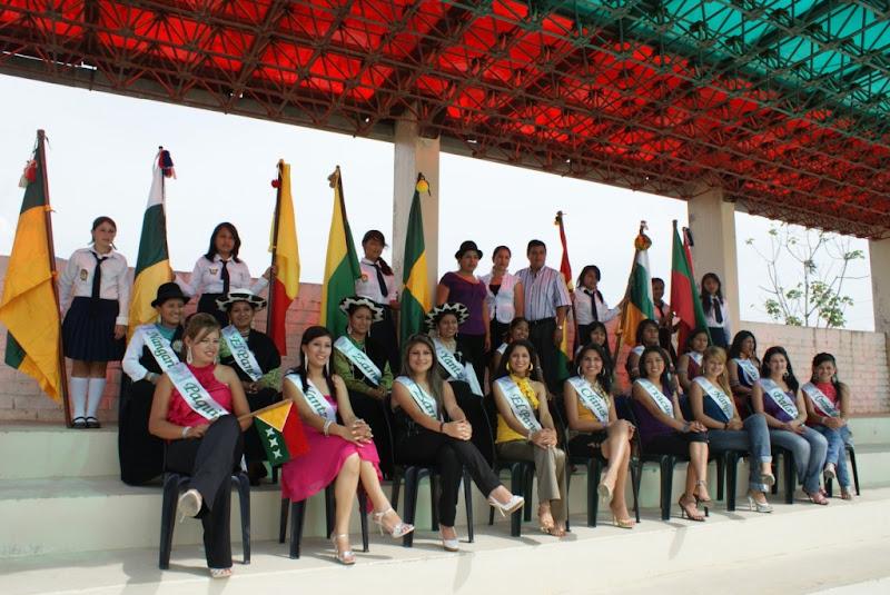 Candidatas a Reinas de la Interculturalidad 2009