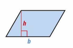 parallelogram <!  :en  >Measurements, Geometric shapes, Area and Volume Formulas<!  :  > english through pictures mathematic vocabulary