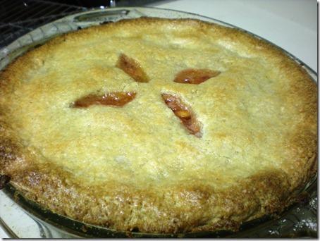 Home made gluten free peach pie! OMG. YUM!