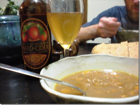 This soup went great with some crusty bread and hard cider!
