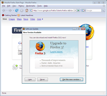 Upgrade Firefox 2 to Firefox 3