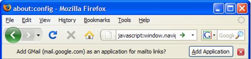 Firefox gmail mailto: