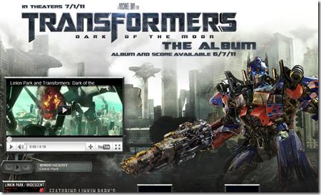 เปิดเว็บไซต์ transformers3music.com