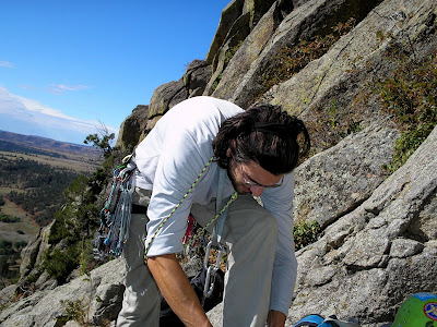 rock climbing in wyoming on devils tower