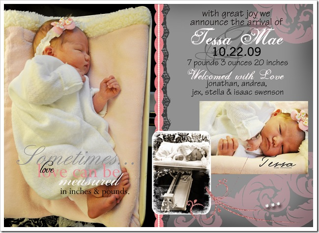 Birth announcement Tessa 2 copy
