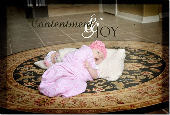 Contentment and Joy