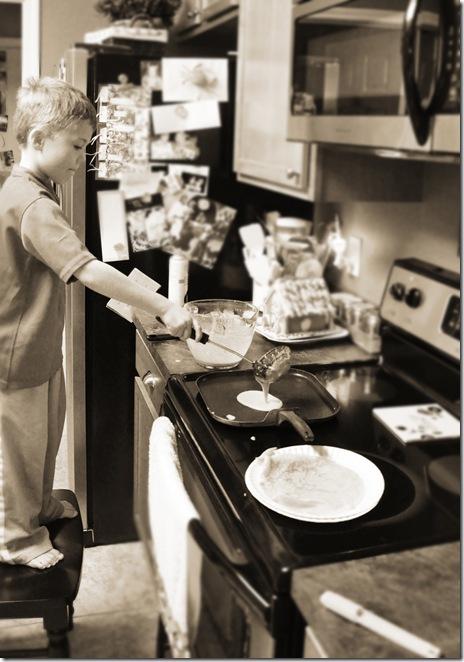 Jex making pancakes
