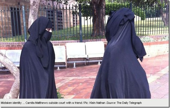 Copy of 19 11 2010 Burqa-clad mum Carnita Matthews jailed for six months