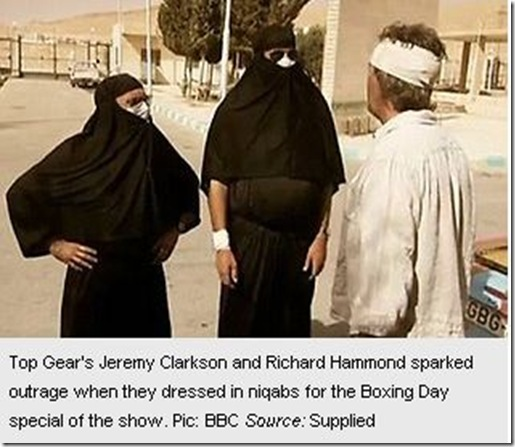29 12 2010 Top Gear stars cause row after burqa-style stunt 2