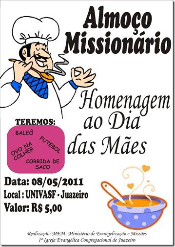 almoço missionário