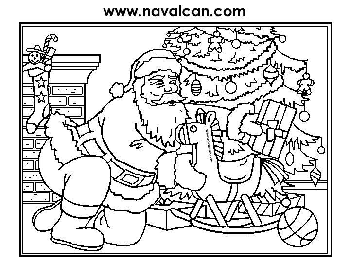 Educaci infantil dibuixos de nadal per pintar - Papa noel coloriage ...