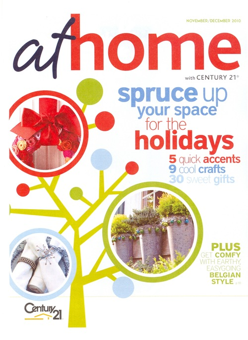 AT HOME with Century 21 November-December 2010 Cover