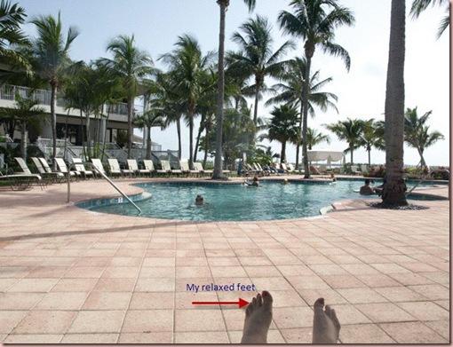 Hawks Cay my feet
