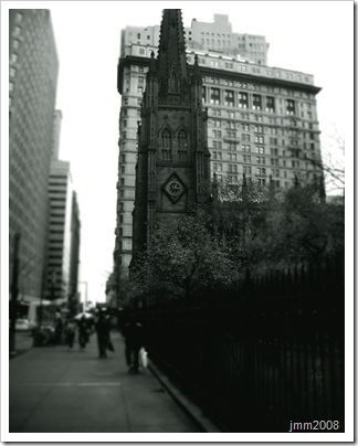 Manhattan New York Church Black and White Photography