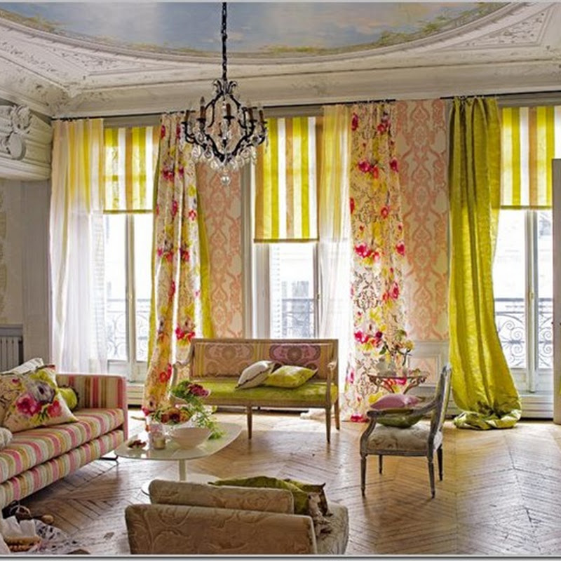 Lush Fabrics and Beautiful Wallpaper = Glam Spaces