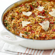 Oven-baked Red Pepper Risotto