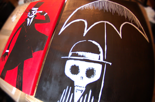 paintings, kidrobot paintings, anime paintings, horror painting, horror canvas,