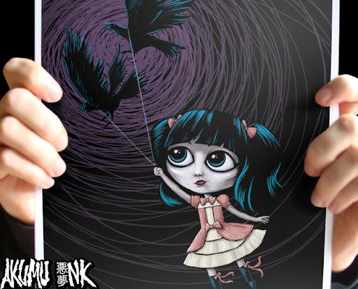 neverland, mark ryden, anime print, ryden print, dreamland, fantasy, etsydarkteam, mark ryden art