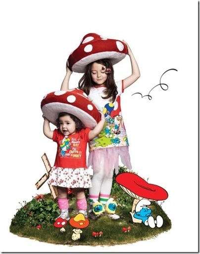 Girl Smurf Print Tunic - HKD 129-139 & Baby Girl Print Dress - HKD 199