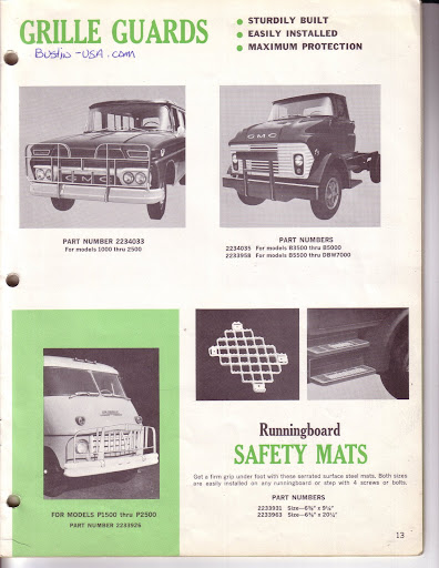 Description et spécifications Chevrolet GMC 1960-1966 Image0-8