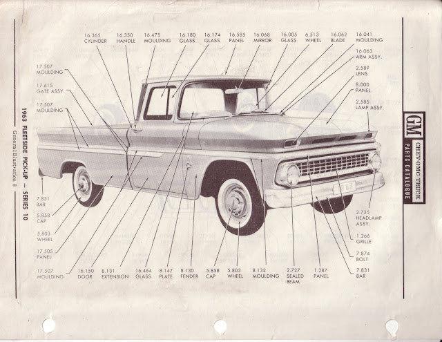 Description et spécifications Chevrolet GMC 1960-1966 Image0-5