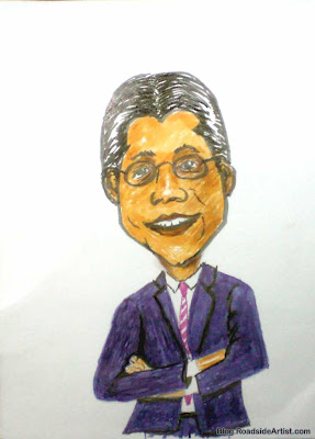 Alberto Gonzales Caricature, Former Attorney General, Full time whiner