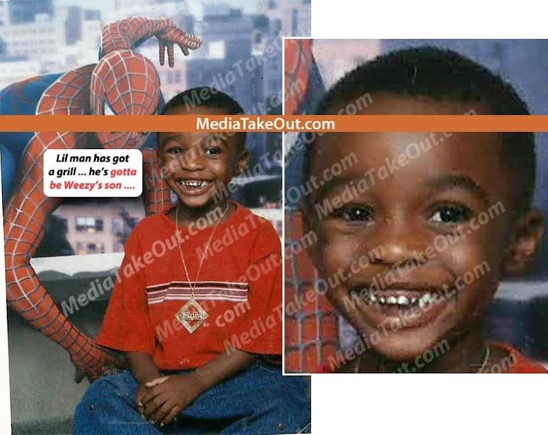 Foto dos grillz do suposto filho do Lil Wayne