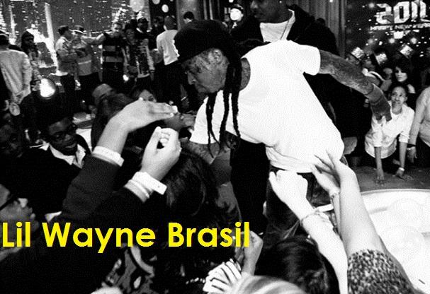 Lil Wayne se despedindo dos fãs na apresentação de ano novo de 2011