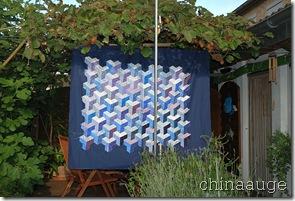 Blauer 3D Quilt - WIP
