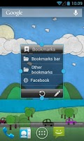 Screenshot of Bookmarks Widget