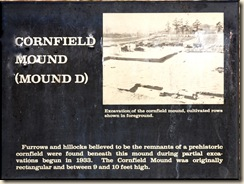 Cornfield Mound Sign
